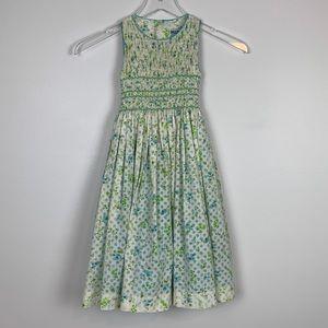 Luli & Me Floral Smocked Dress sz 5 Girls